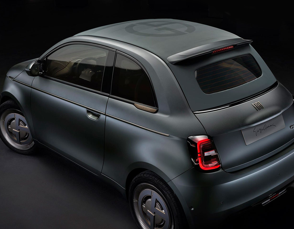 Fiat 500 gets a sexy Armani makeover with leather
